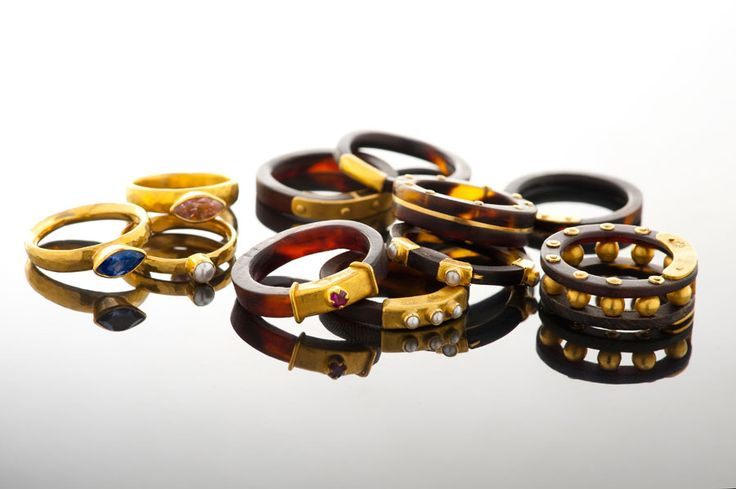 A selection of Lisa Black rings.  Interesting designs