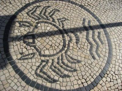 Quarto com vista para a cidade de Aveiro: Calçada Portuguesa em Aveiro #3