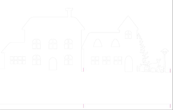 Зимняя деревня из бумаги. Шаблоны для распечатки (2) (700x444, 12Kb)