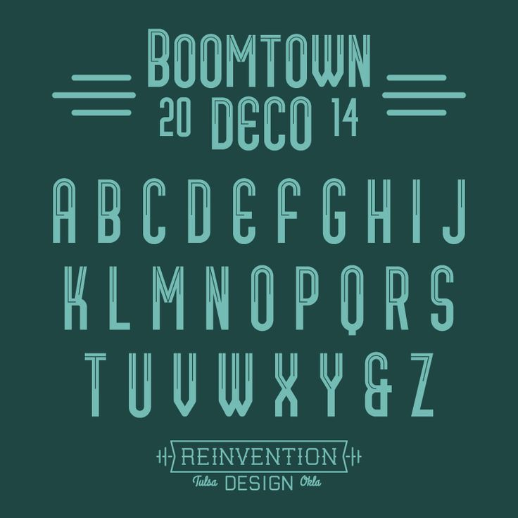 Free Font: Boomtown Deco