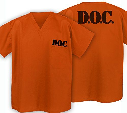Prison Uniform Shirt Jail Orange Top Prisoner Costume Broad Bay http://smile.amazon.com/dp/B00O279EGS/ref=cm_sw_r_pi_dp_XEvlub1EY082R