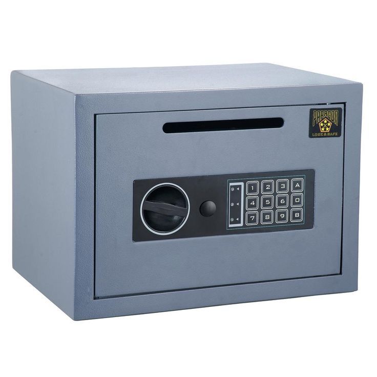 CashKing Digital Depository Safe 0.54 CF Cash Drop Safes Heavy Duty, Gray