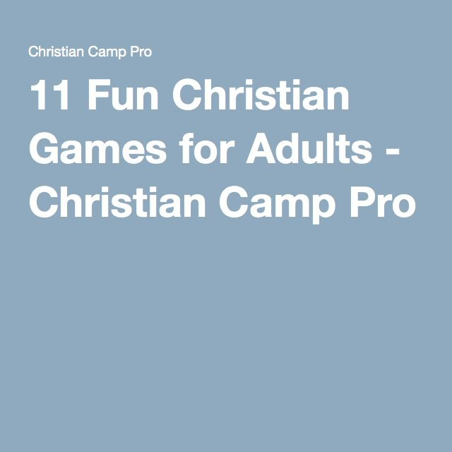 Free christian games for adults