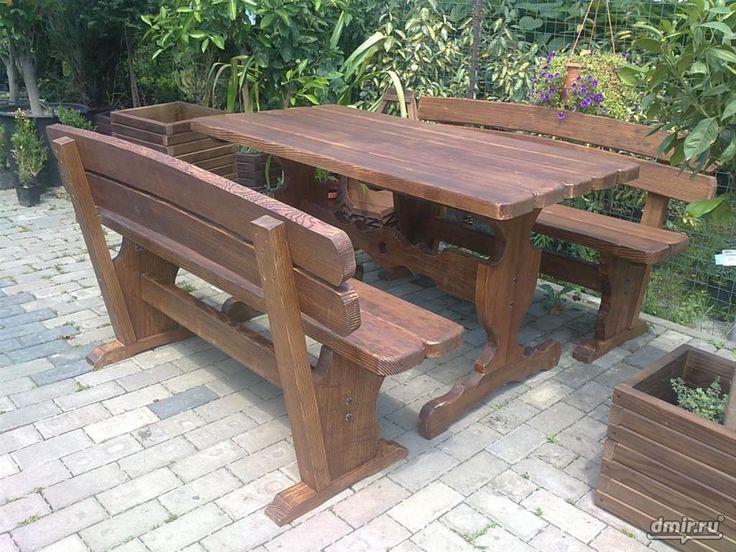 Схема деревянные столы своими руками 94