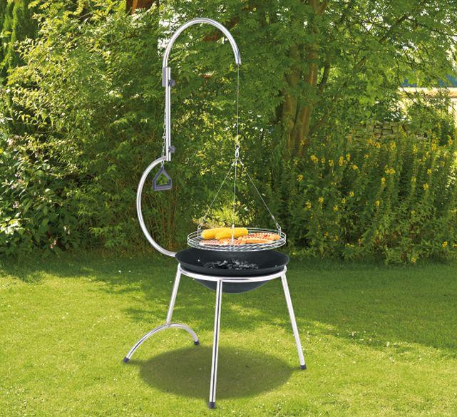 Super barbecue design en inox au feu de bois  (schwenkgrill_ratech__composing)