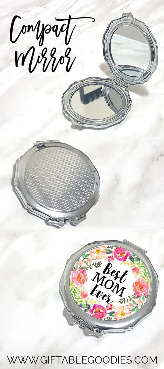 Mother's Day Gift  Round Compact Mirror by TheGiftableGoodies