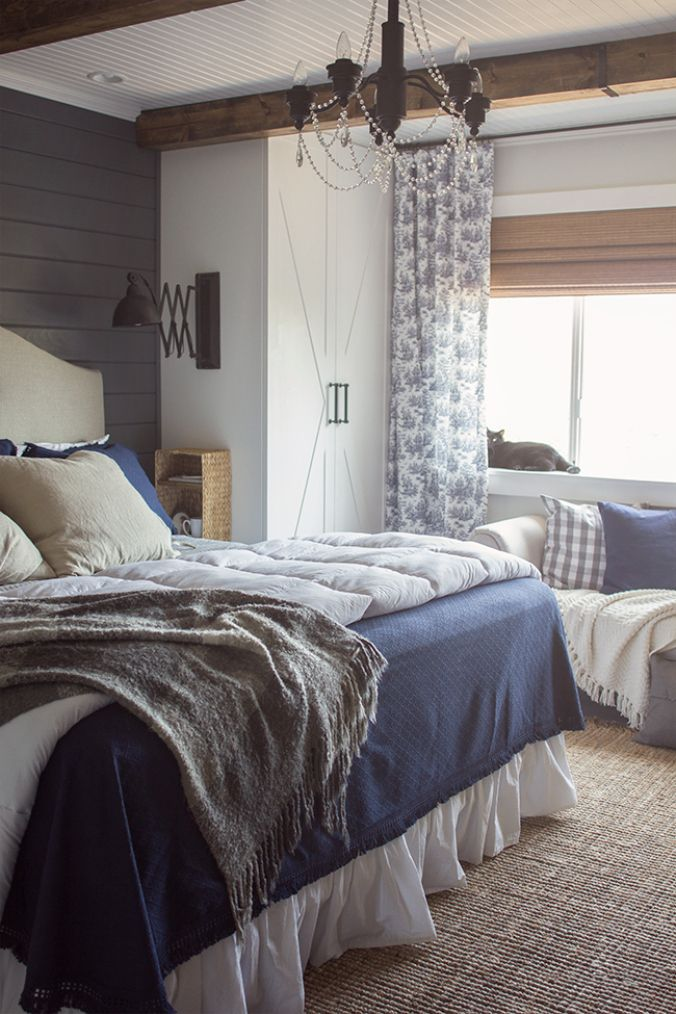 Modern Rustic Bedroom Inspiration   upcycledtreasures.com