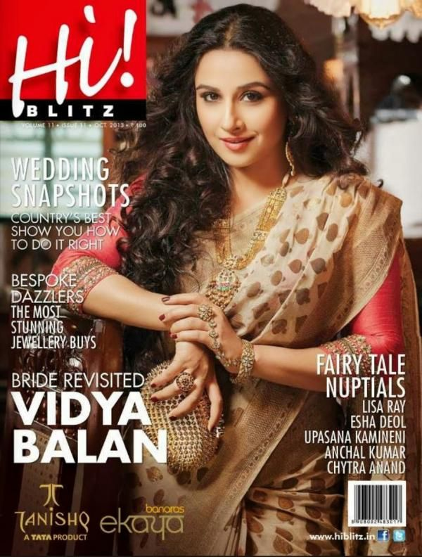Bride revisited! Vidya Balan on the cover of Hi! Blitz