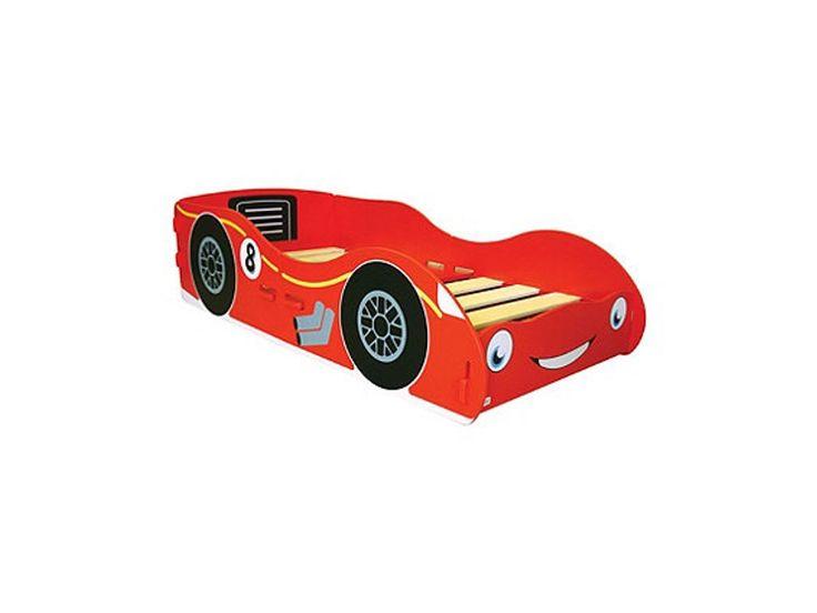 Kidsaw Racing Car Junior Bed - Black & Red