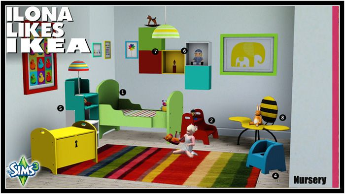 17 best images about ts2 room sets nurseries and kids for Bedroom simulator ikea