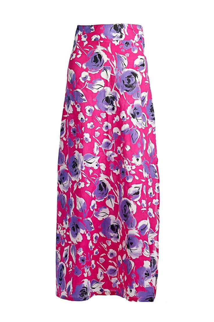 ALEXANDRA Fuchsia with Purple Floral Print  #swimpinksands #pinksands #fuchsia #flowers #beachwear #collection #summer2014   www.swimpinksands.com