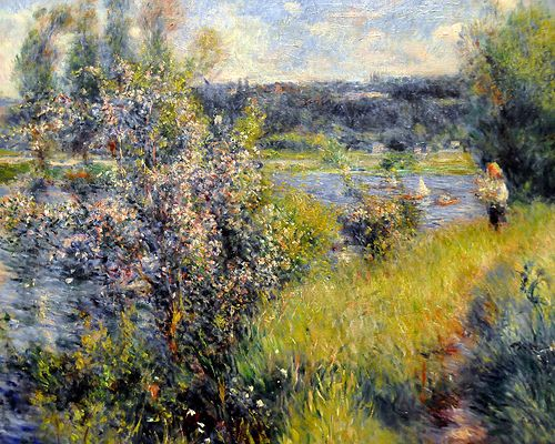 Pierre Auguste Renoir - The Seine at Chatou at Boston Museum of Fine Arts