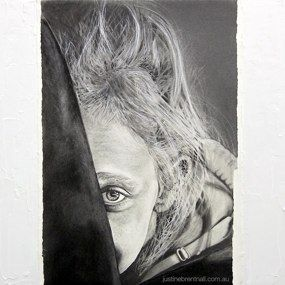 'You Can't See Me 1' Graphite and Acrylic on canvas