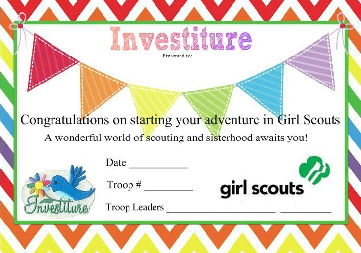 girl scout daisy investiture ceremony certificate clipart ...