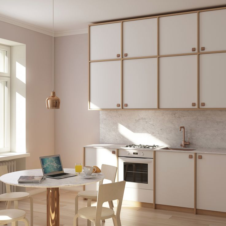 A distinctive A.S.Helsingö kitchen design based on IKEA cabinet frames. We offer doors, handles, sink, taps and tabletops.   A beautiful kitchen to fit your home and taste shouldn't depend on the thickness of your wallet. #kitchens #interiors #scandinaviandesign