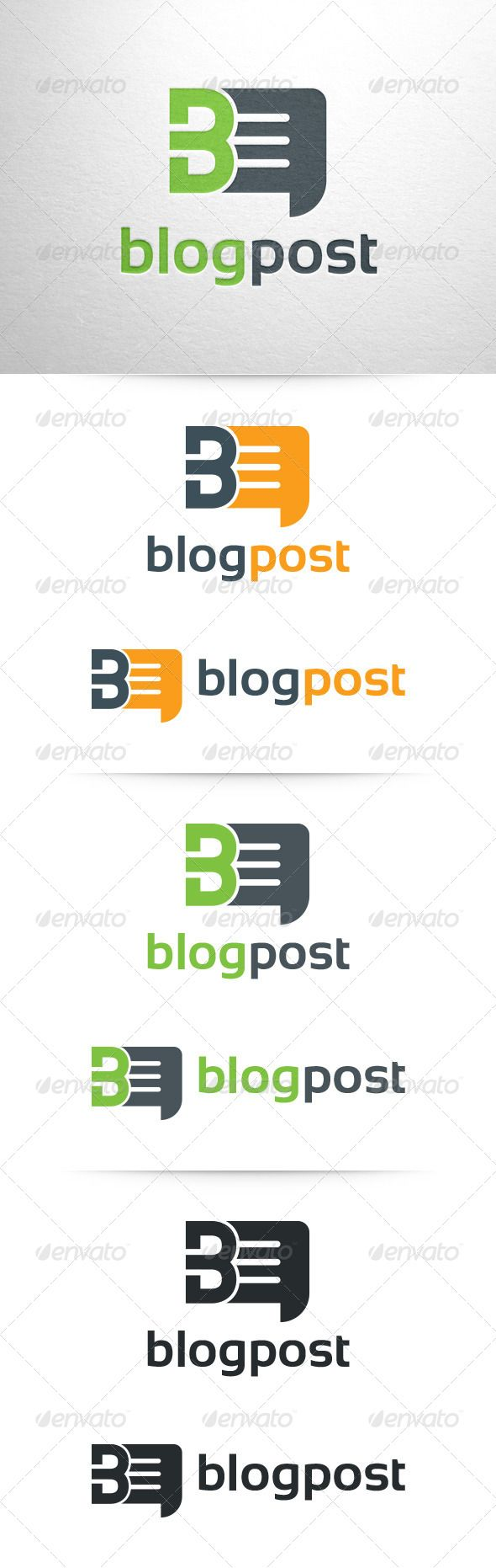 Logotype butterfly and letter b in different colour variants on a - Blogpost Letter B Logo