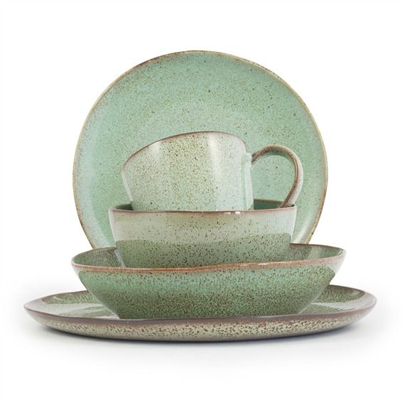 Farmstead Stoneware Collection - Mint (491568322), Stoneware Dinnerware Sets, Wooden Bowls & More | bambeco