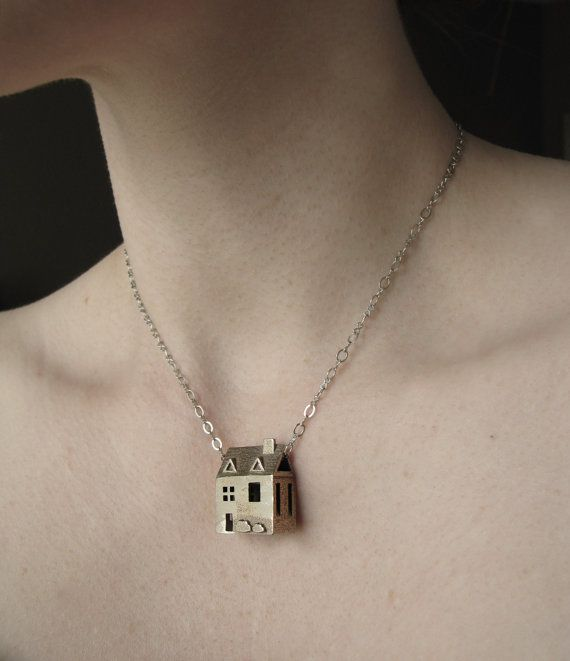 Doll House Necklace  Stainless Steel Jewelry  Pre by jamiespinello, $60.00