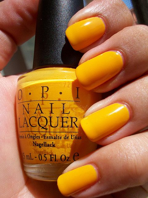 OPI the It color. This would be a perfect summer color but yellow isn't my color.