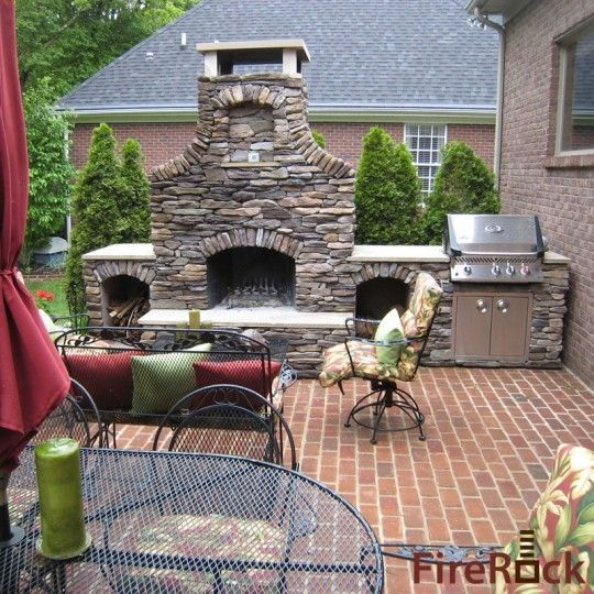 FireRock Outdoor Fireplace Kit, great way to put any stone or brick you want to give your home that perfect look!