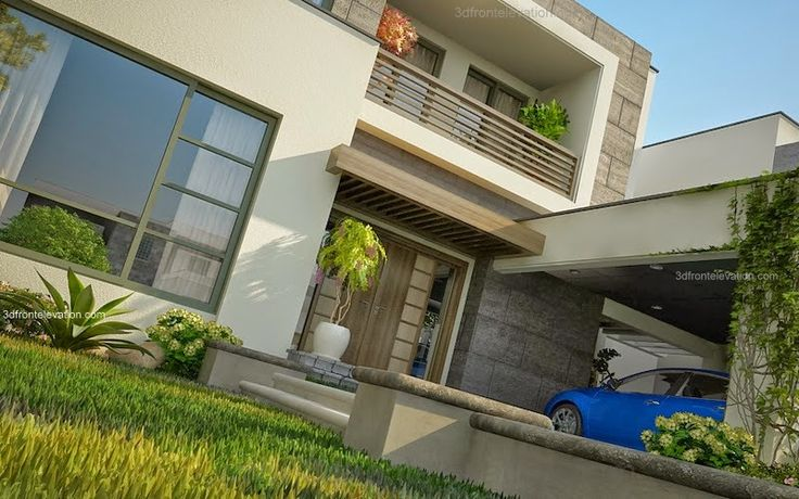 Front Elevation In Lahore : D front elevation modern house plans designs