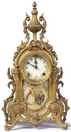 Imágenes Victorianas: Reloj antiguo.