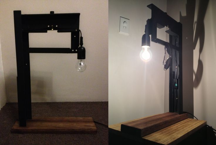 Finished lamp, chucked a couple pictures from etsy together to display it a bit