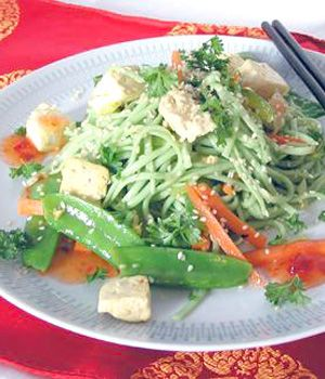 Vegetarian Cold Noodle Salad