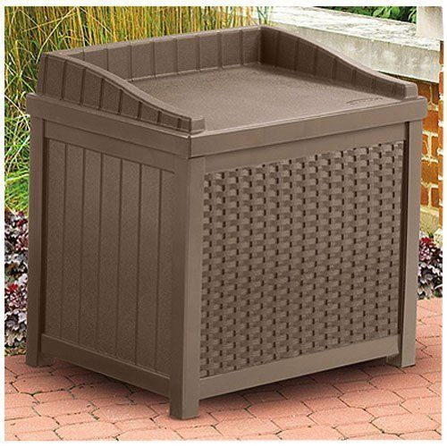Deck Storage Box Waterproof Outdoor Plans Extra Large Plastic Ball For Toys New #Suncast