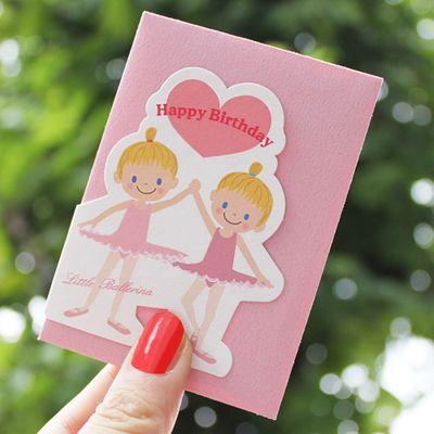 귀여운 감성 카드 4type-일본직수입 - 컨츄리아이템, 디자인문구, 편지/카드, 카드, 생일카드