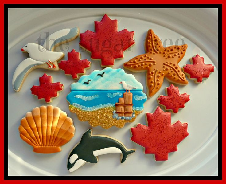 Canada Day cookies West Coast style! by The Sugar Tree