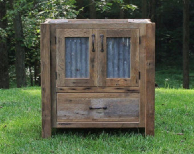 Rustic Mudroom Cabinet Tall Storage Reclaimed Barn