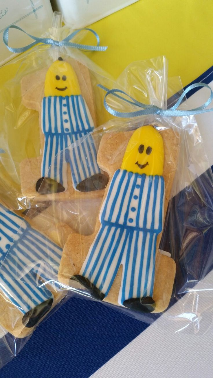 Bananas in Pyjamas Themed Iced Biscuits. Party styled by Party Princess