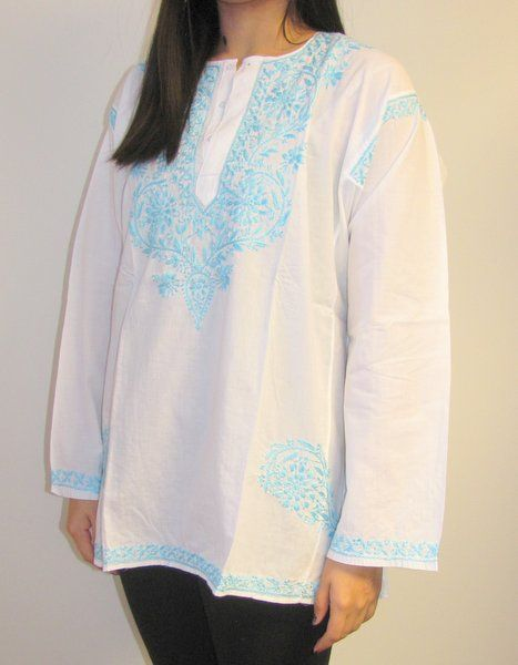 Upscale cotton tunic tops sale. Women love Cotton Tunics kurtis as popularly called in India. Size XS -4X on sale $39.99