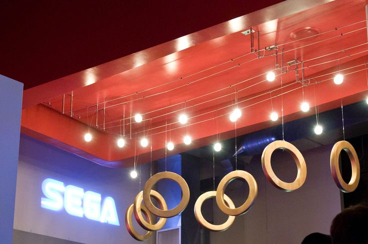 Sonic the Hedgehog Golden Rings - SEGA logo gobo projection