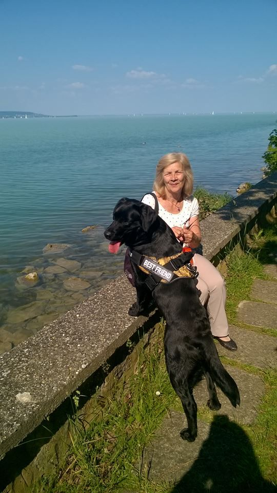 Mom and Bella!  Lake Balaton, Hungary <3