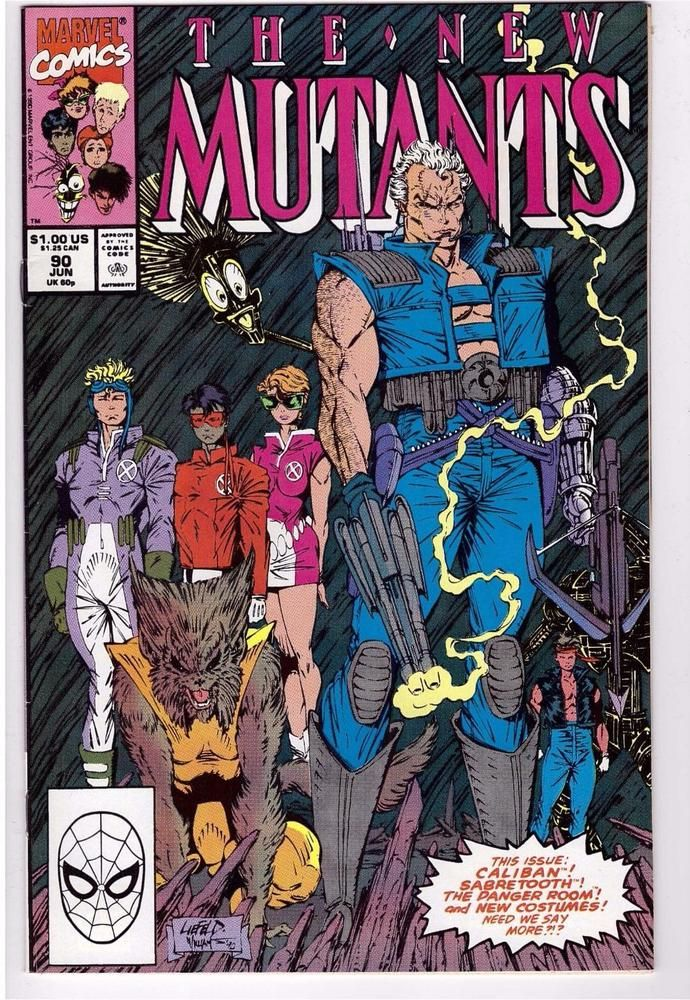 The New Mutants #90 June 1990 Marvel Comic Book Cable Caliban Sabretooth