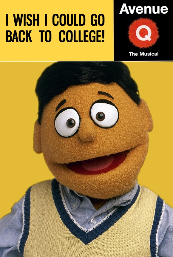 """Meet Princeton, who's looking for his purpose in life. Meet Princeton in person when """"Avenue Q"""" opens at Theatre Charlotte on May 17."""