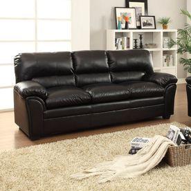 Homelegance Talon Black Faux Leather Sofa 8511Bk-3