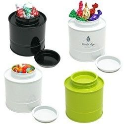 Our Asian Style Round Tin features a convenient stackable design for easy storage. 3 Colors finishes to choose from in LIME, WHITE or BLACK. These Tins Features a Stay Fresh Fitting to Keep and preserve Contents Fresh and perfect. Perfect for Corporate Gifts, Holiday Recognition, Customer Appreciation Gifts. Great for cookies, candy, gifts, cosmetics, snacks, coffee, tea, Mixed Nuts and our broad range of products. Please Call for Available Colors or More Gourmet Filling Options to Choose…
