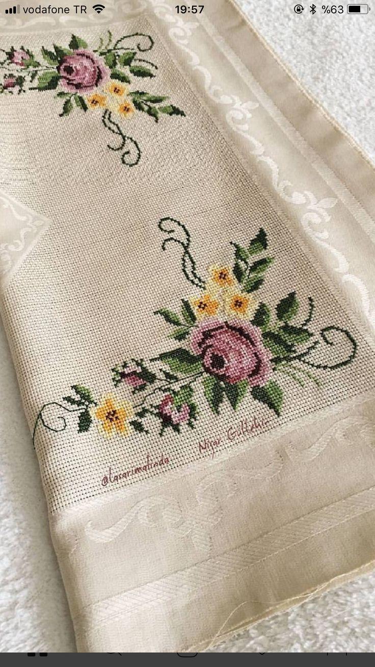 Nuray Nuray салфетки вышивка вышивка крестом вышивка скатерти