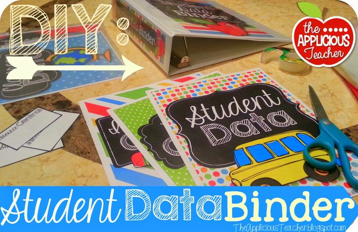 DIY: Student Data Binder- The ins and outs of creating a Student Data Binder and some tips on making your own custom divider tabs.