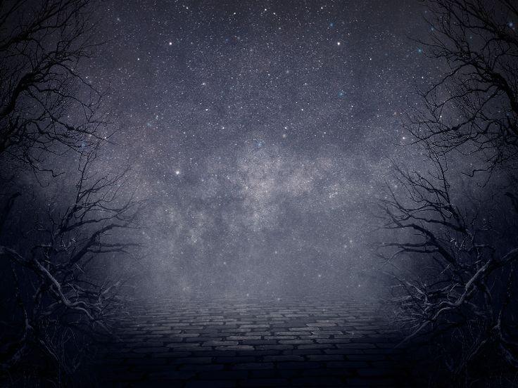 Creepy Night Forest Fantasy Background Free