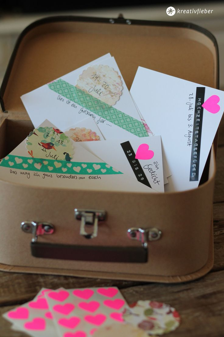 Gemeinschaftsgeschenk zur Hochzeit: Postkarten als Geschenk für das Brautpaar zum selber machen