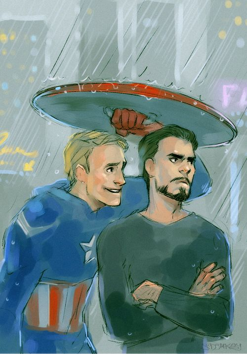 Can I help you? by *MisterKay  This artist, is fantabulous! Absolutley wonderful! They also ship tony and Stark, which of course I couldn't resist doing after seeing the Avengers movie! I mean, Cap'n and Stark are just adorable together!