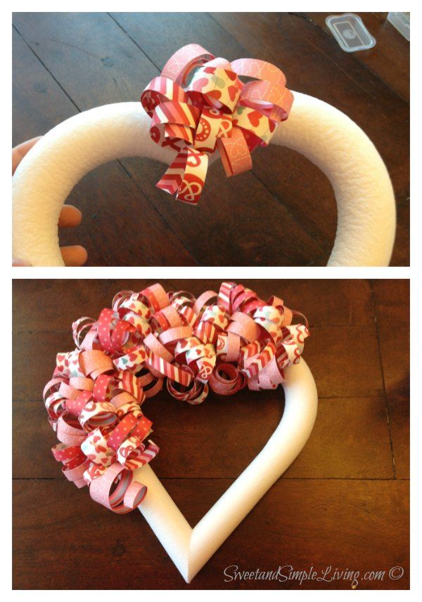 Valentine S Day Heart Wreath With Free Tutorial Coronas Festivas Para Las Puertas Pinterest Diy And Valentines