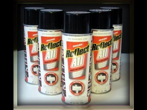 "REFLECT-ALL ""THE MOST BRILLIANT REFLECTIVE SPRAY PAINT ON THE MARKET"" I would totally use this to stencil stuff on my running jackets and stuff!"