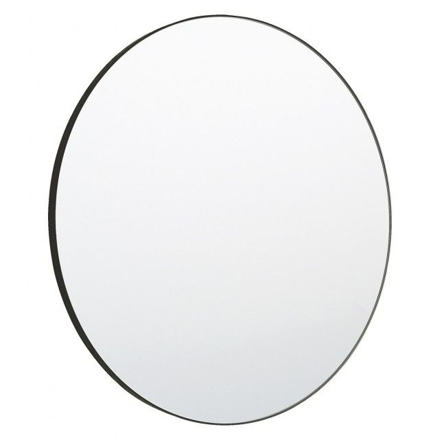 A Sleek And Sophisticated Addition To Any Room The Patsy Large Round Wall Mirror Has