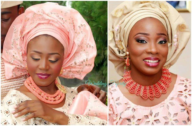 Yoruba Wedding Brides In Pink And Gold, A Classic Colour