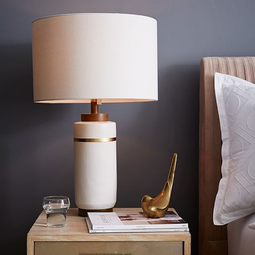 Roar rabbit crackle glaze ceramic table lamp large west elm